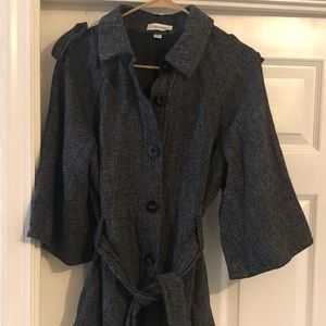 Calvin Klein jacket with buttons and tie waist